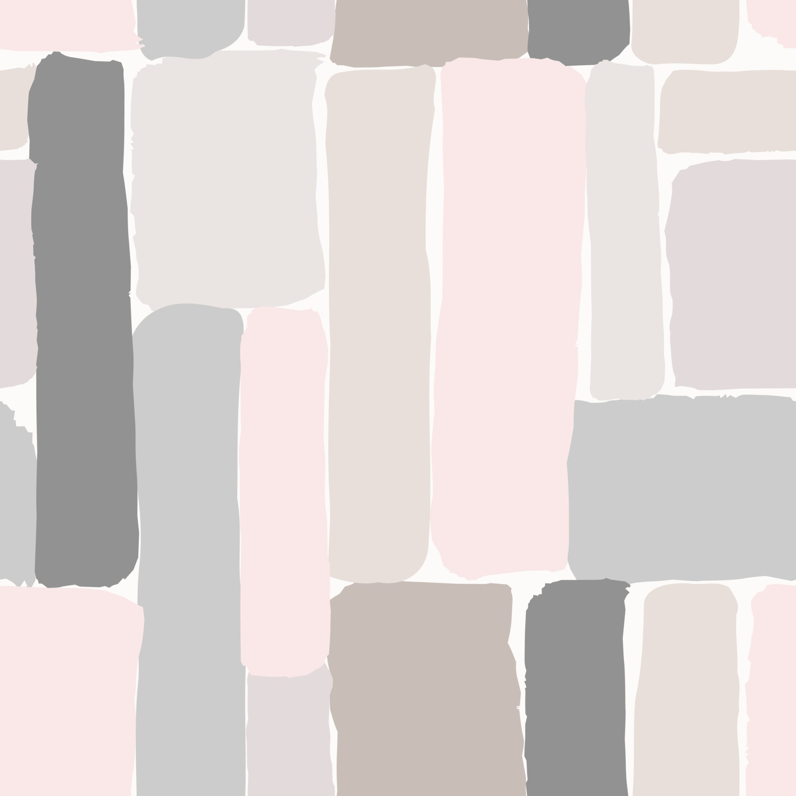 Seamless repeating pattern with hand drawn elements in pastel colors on cream background.