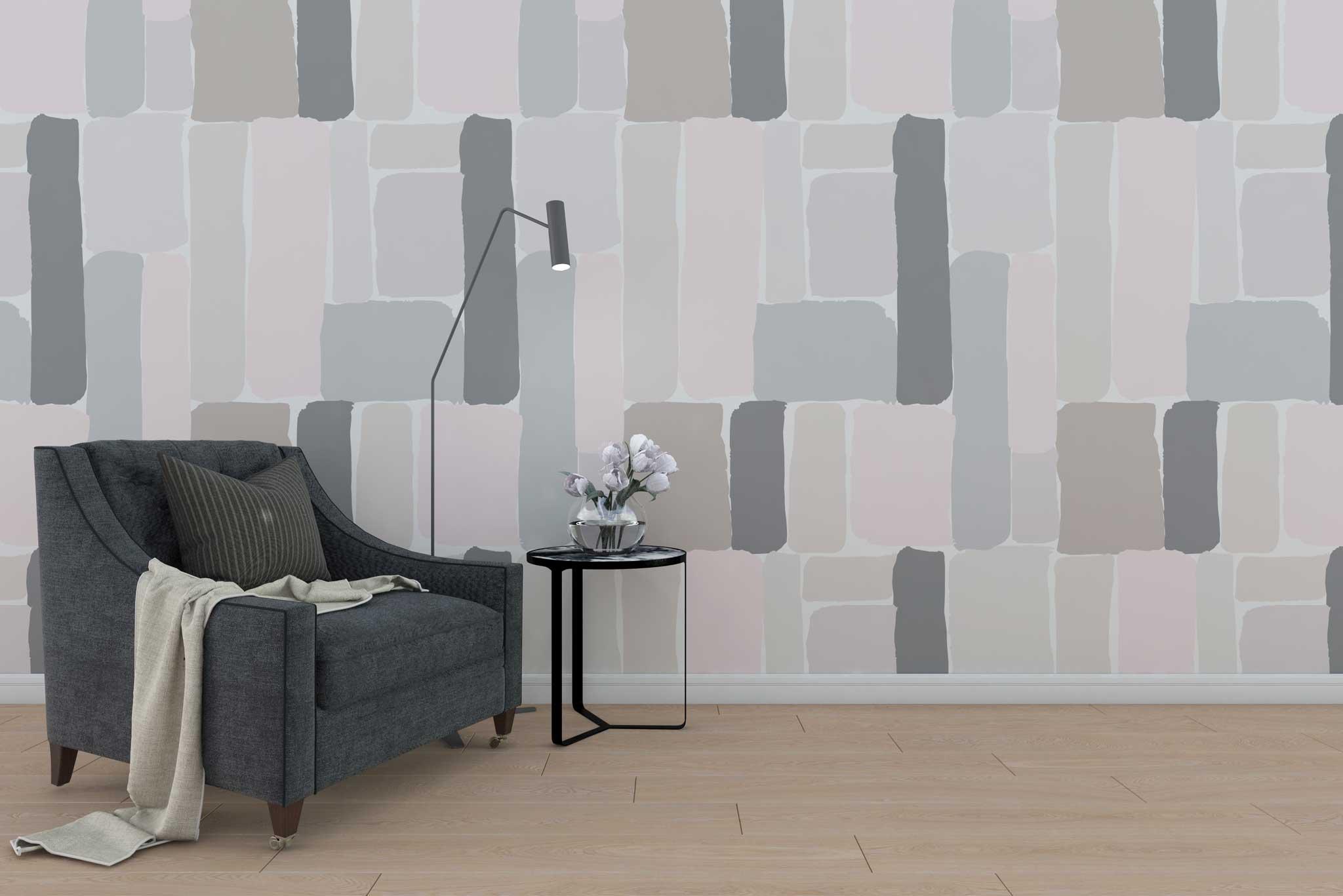 tapet-fototapet-decor-design-customizabil-comanda-personalizat-bucuresti-daring-prints-mural-motiv-forme-geometrice-culori-pastel-roz-gri