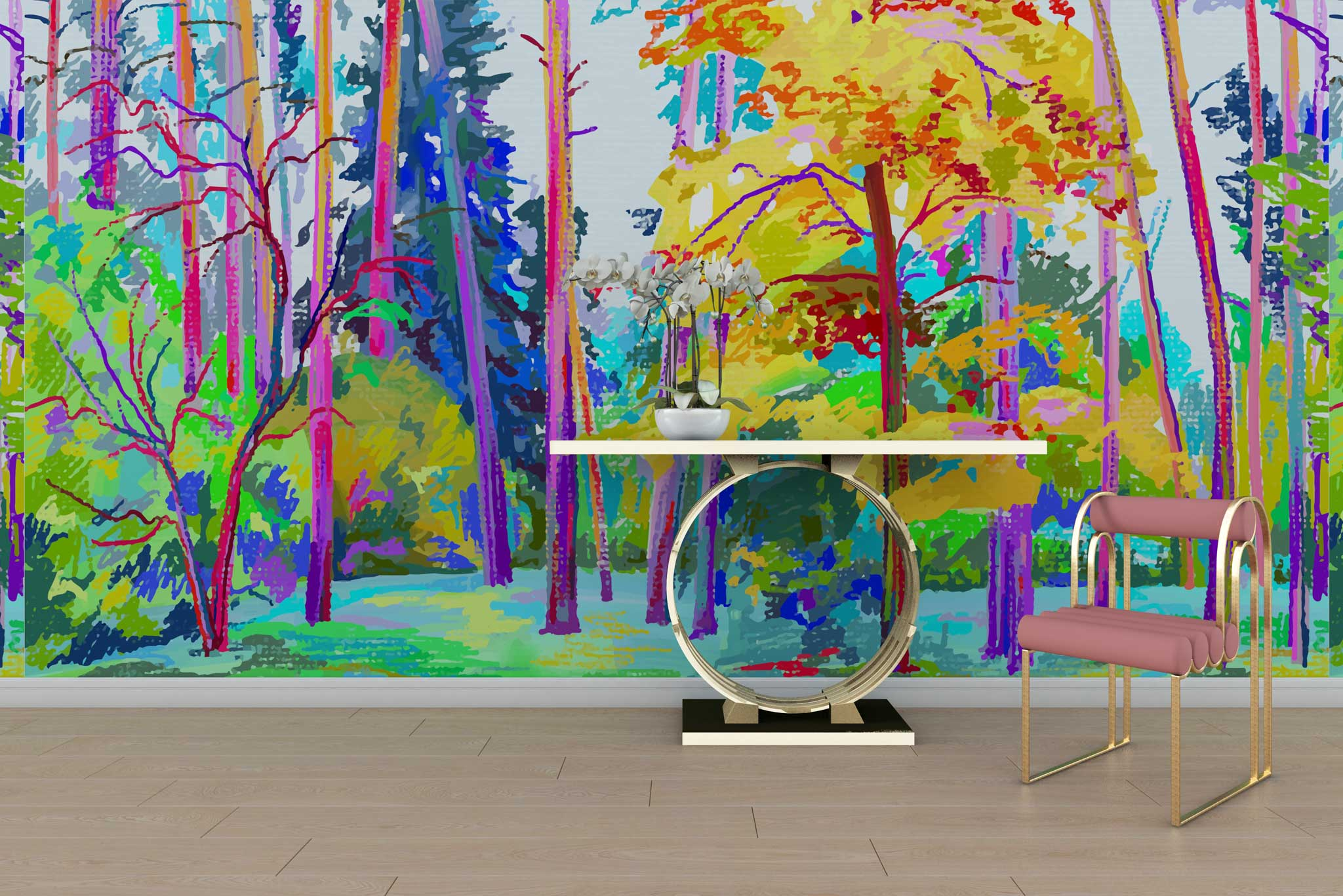 tapet-fototapet-special-personalizat-customizabil-comanda-bucuresti-daring-prints-model-desen-pictura-padure-colorata-multicolor