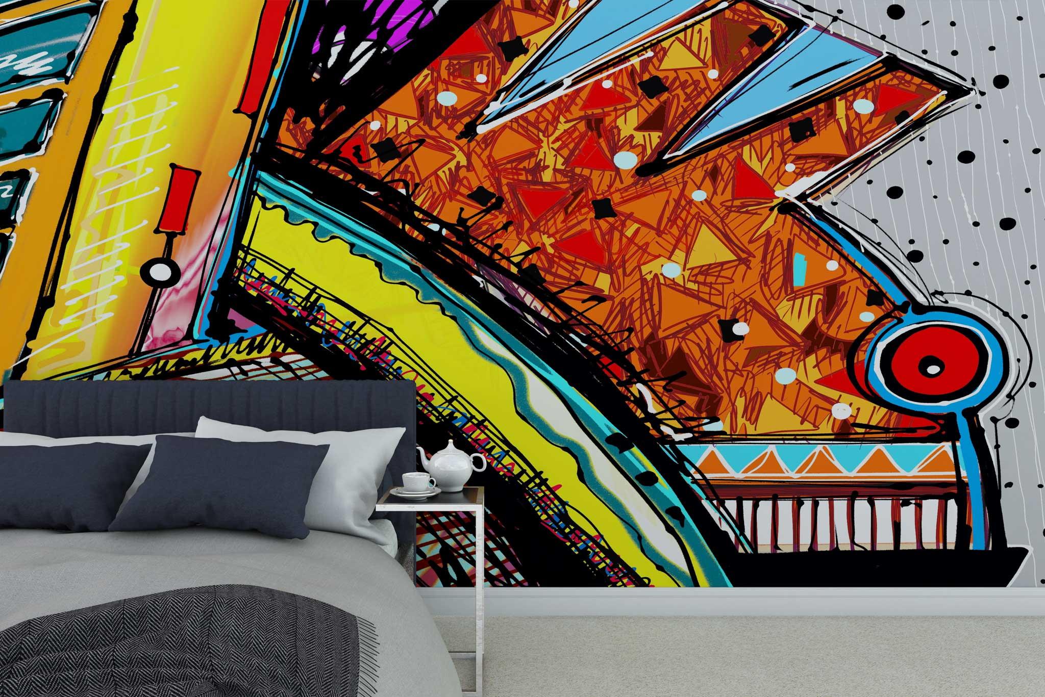 tapet-fototapet-special-personalizat-customizabil-comanda-bucuresti-daring-prints-model-graffitti-desen-mural-industrial-contemporan-multicolor