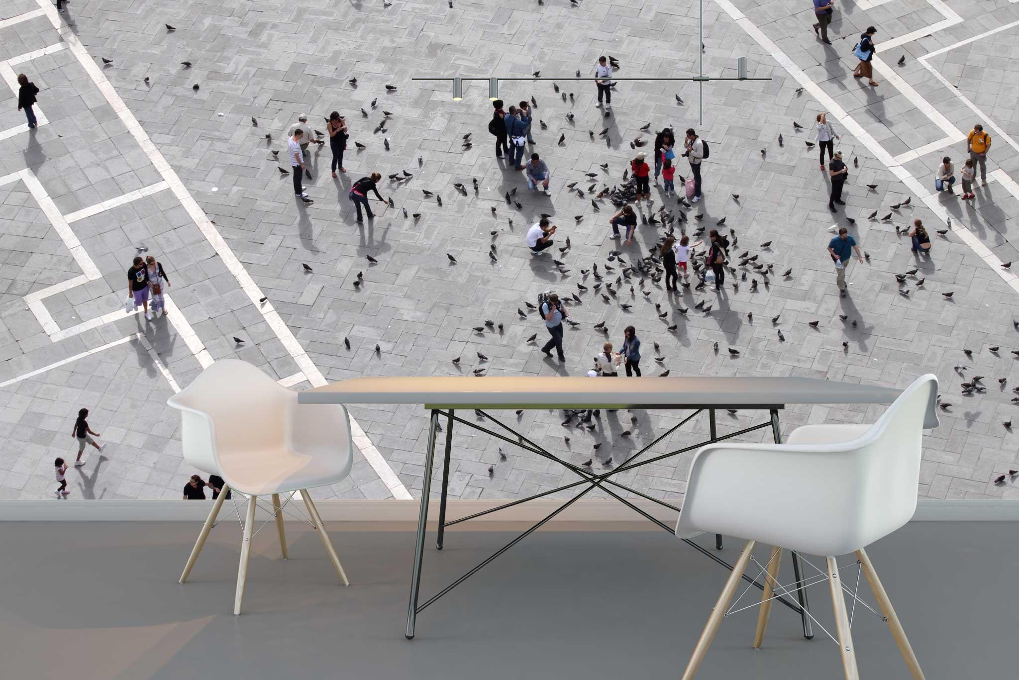 tapet-fototapet-comanda-personalizat-bucuresti-perete-special-lux-model-fotografie-aeriana-piata-oras-oameni