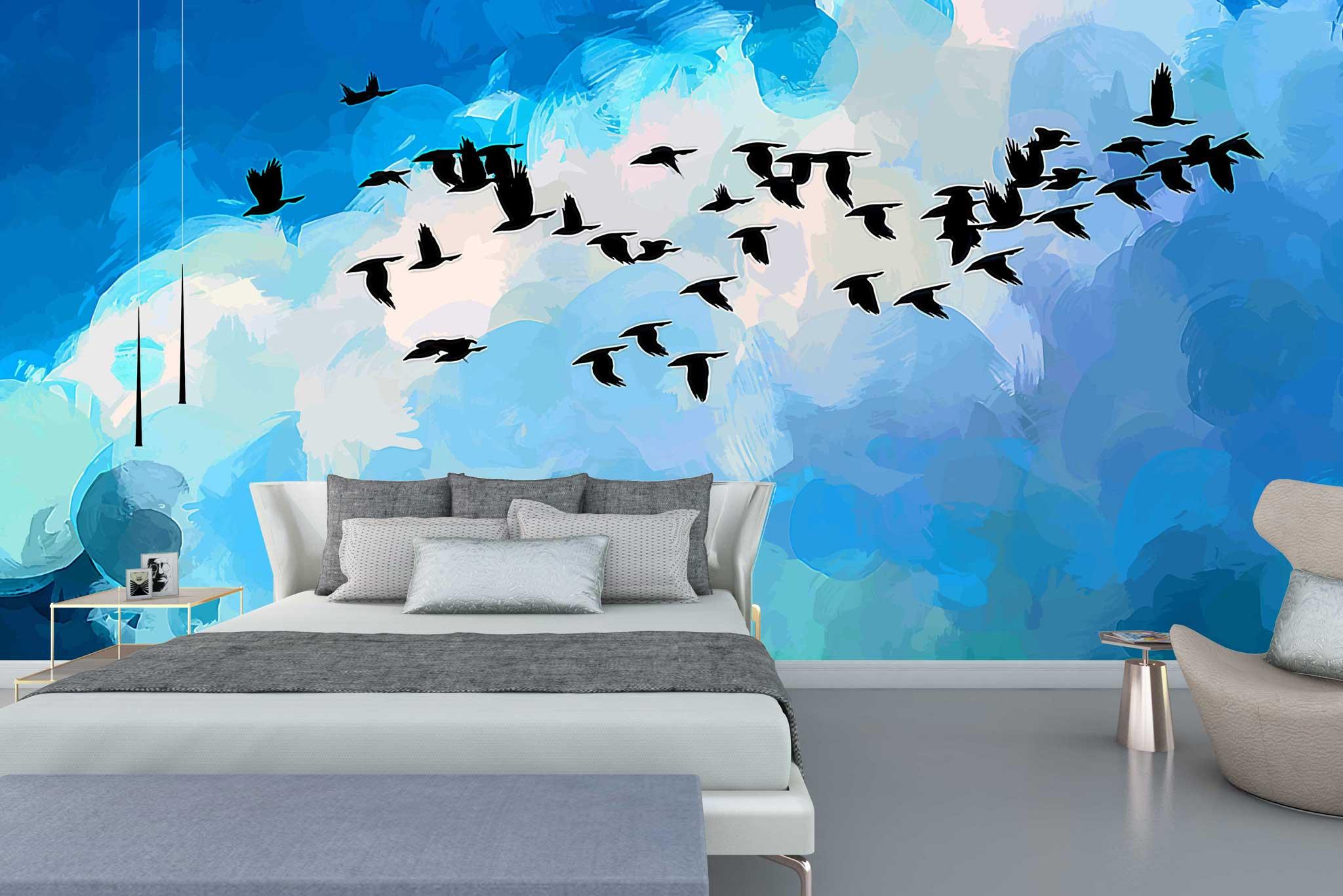 tapet-fototapet-comanda-personalizat-bucuresti-perete-special-lux-model-pictura-desen-pasari-zbor-cer