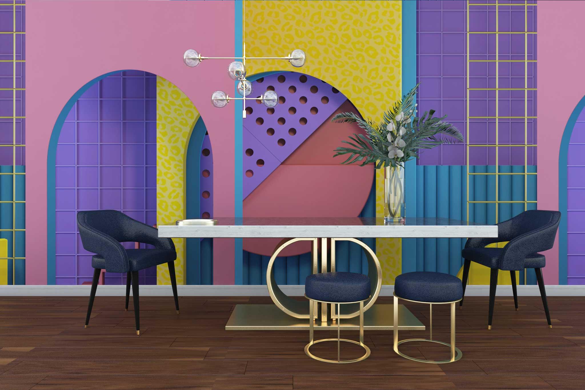 tapet-fototapet-personalizat-comanda-bucuresti-model-abstract-volume-multicolor-perete-lux-special