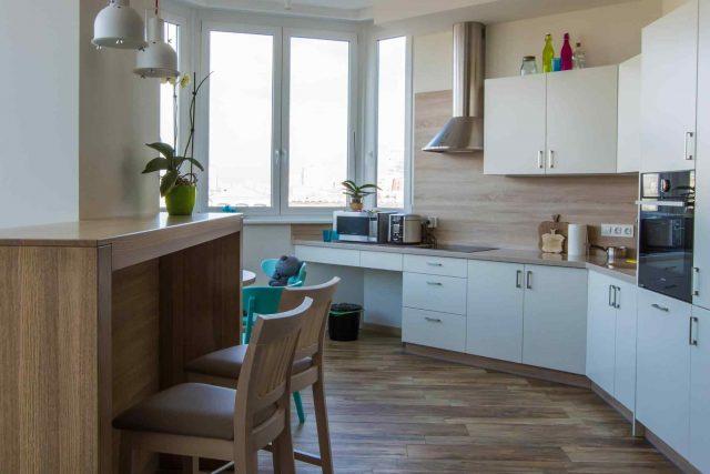 Modern kitchen in a cottage