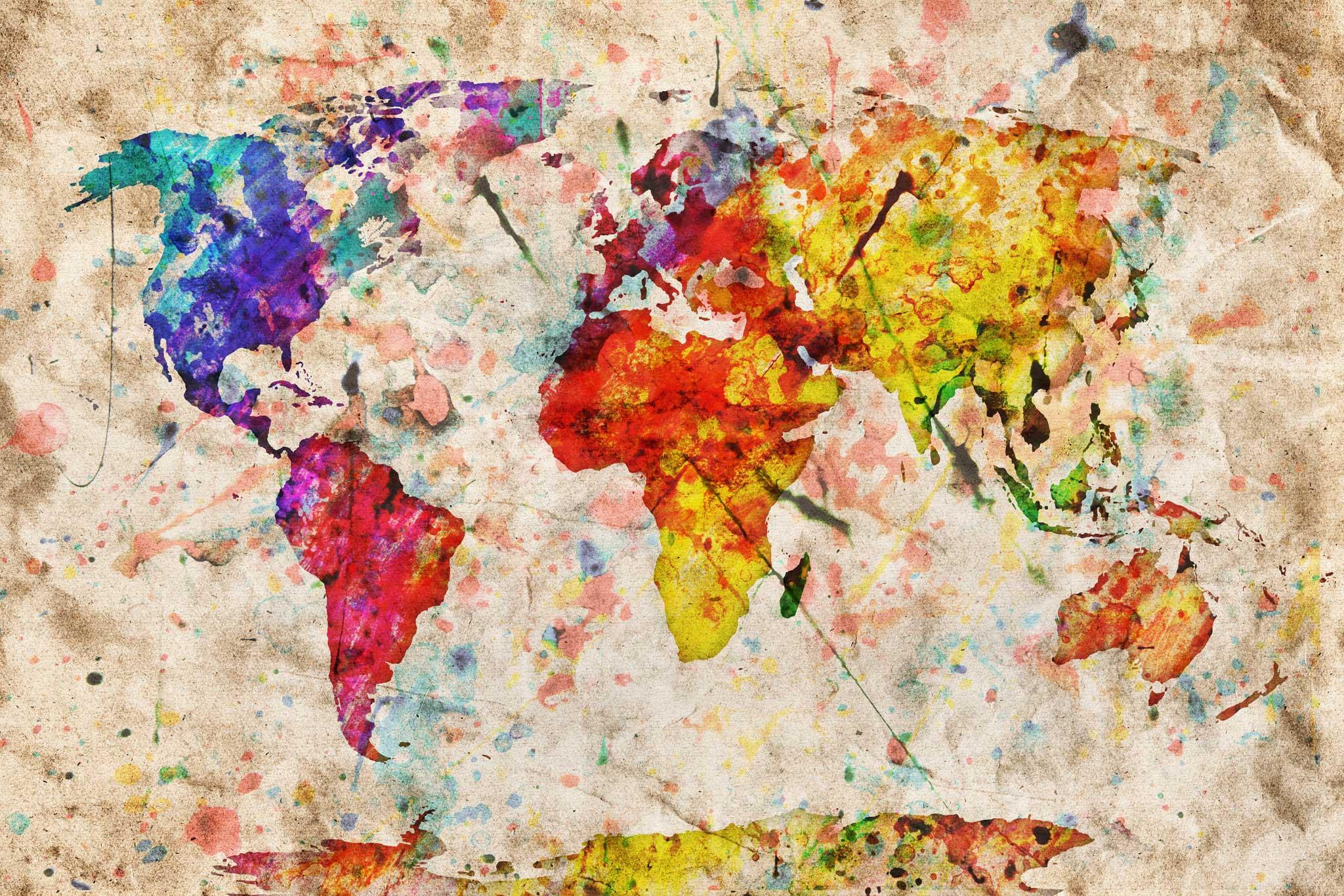 tapet-fototapet-design-decor-mural-customizabil-comanda-personalizat-bucuresti-daring-prints-motiv-model-copii-desen-acuarela-harta-lumii-multicolor