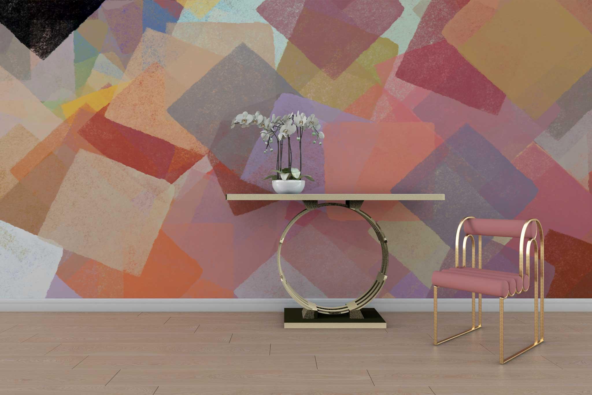 tapet-fototapet-design-interior-personalizat-comanda-special-bucuresti-motiv-geometric-grafic-multicolor-colorat-patrate