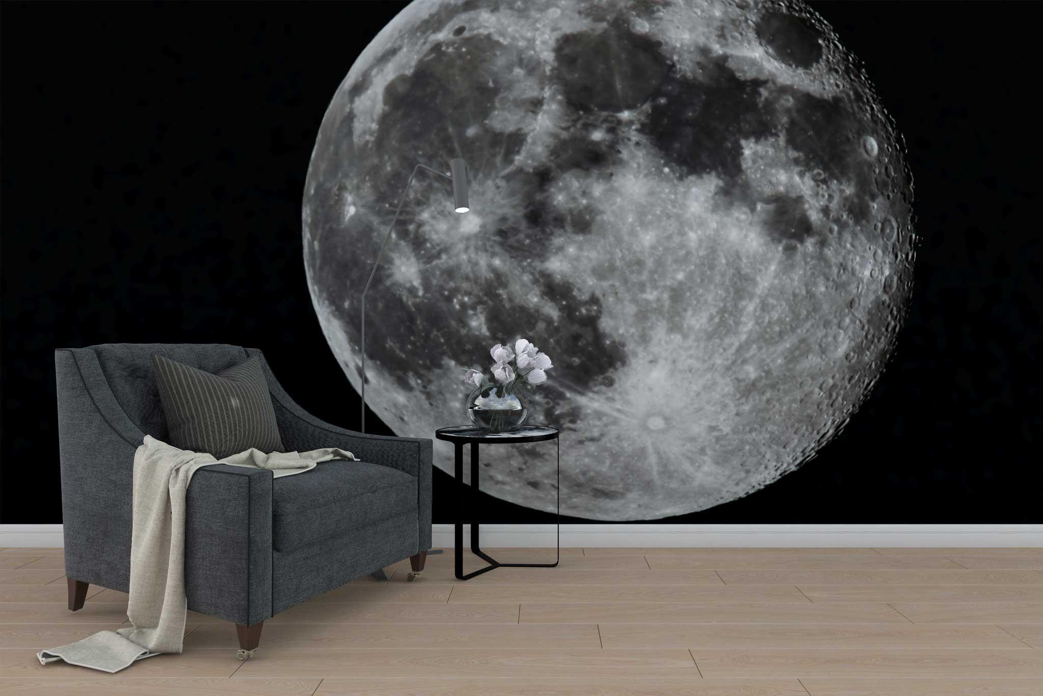 tapet-fototapet-design-personalizat-customizabil-comanda-special-model-luna-cer-negru-noapte
