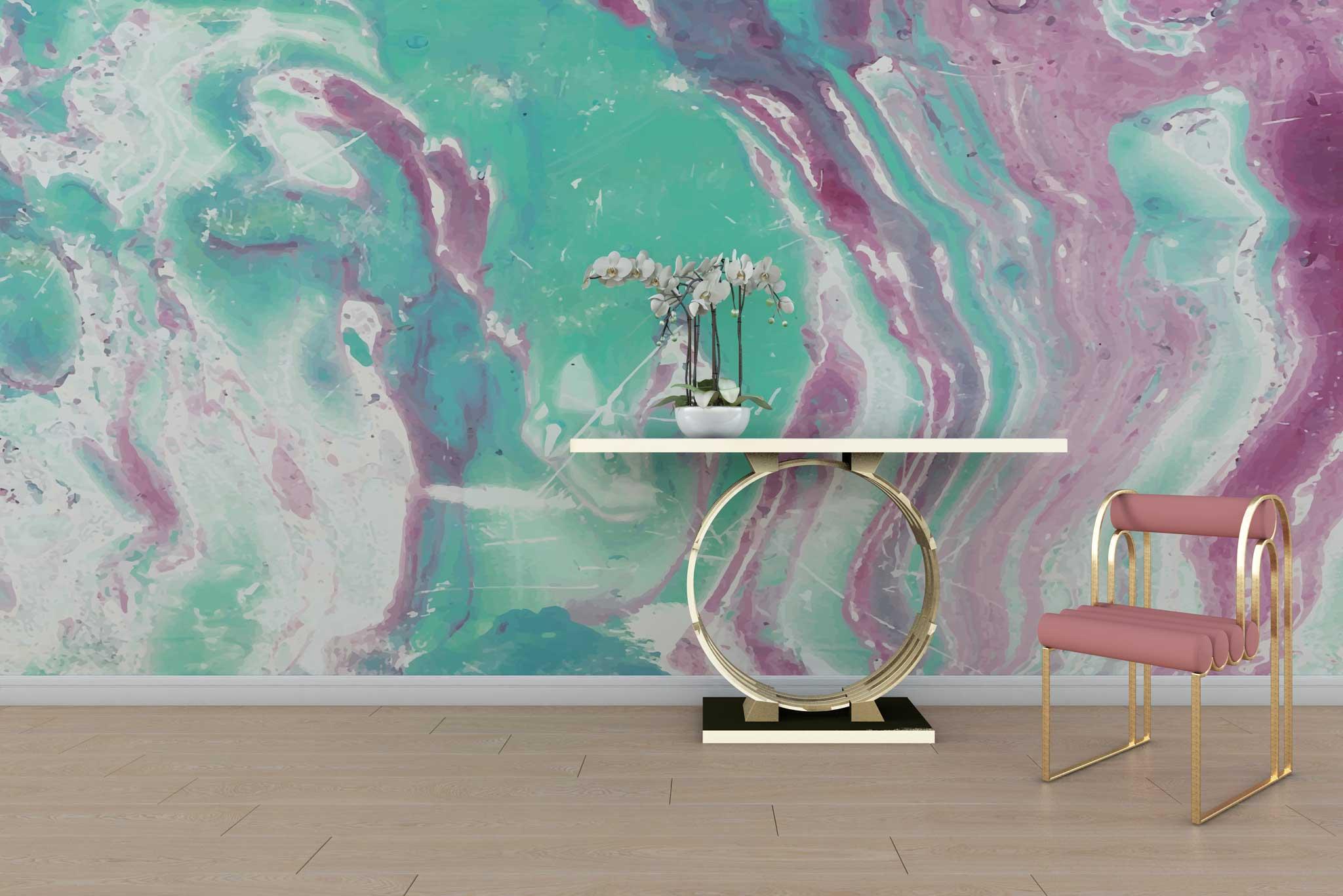 tapet-fototapet-special-personalizat-customizabil-comanda-bucuresti-daring-prints-abstract-mineral-culori-mov-lila-verde-mint