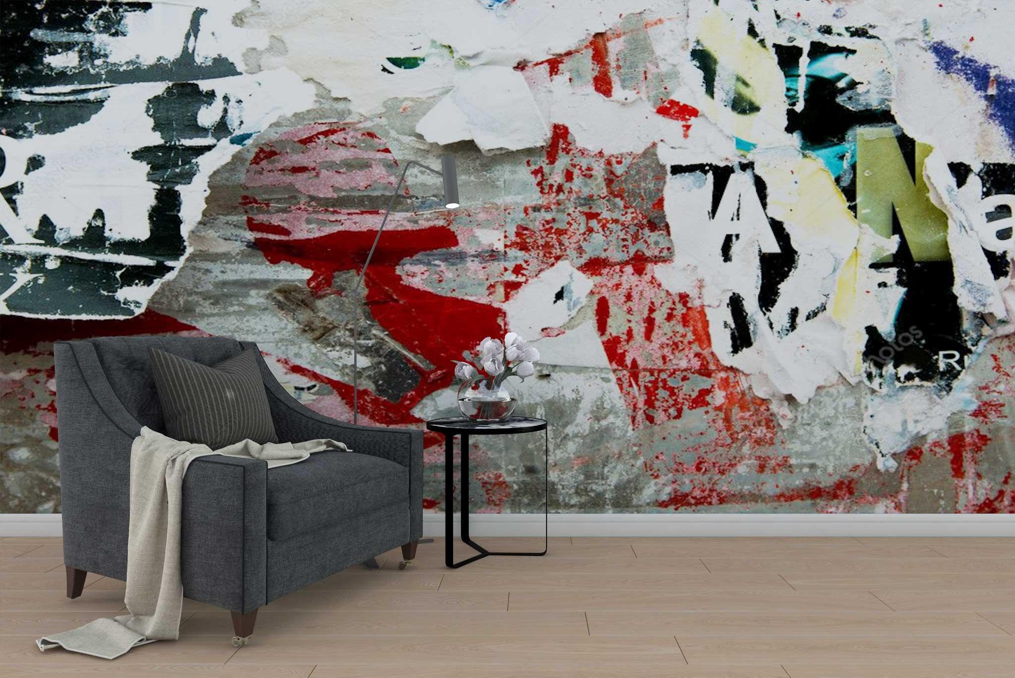 tapet-fototapet-special-personalizat-customizabil-comanda-bucuresti-daring-prints-model-afise-rupte-industrial-grunge-multicolor-negru-rosu