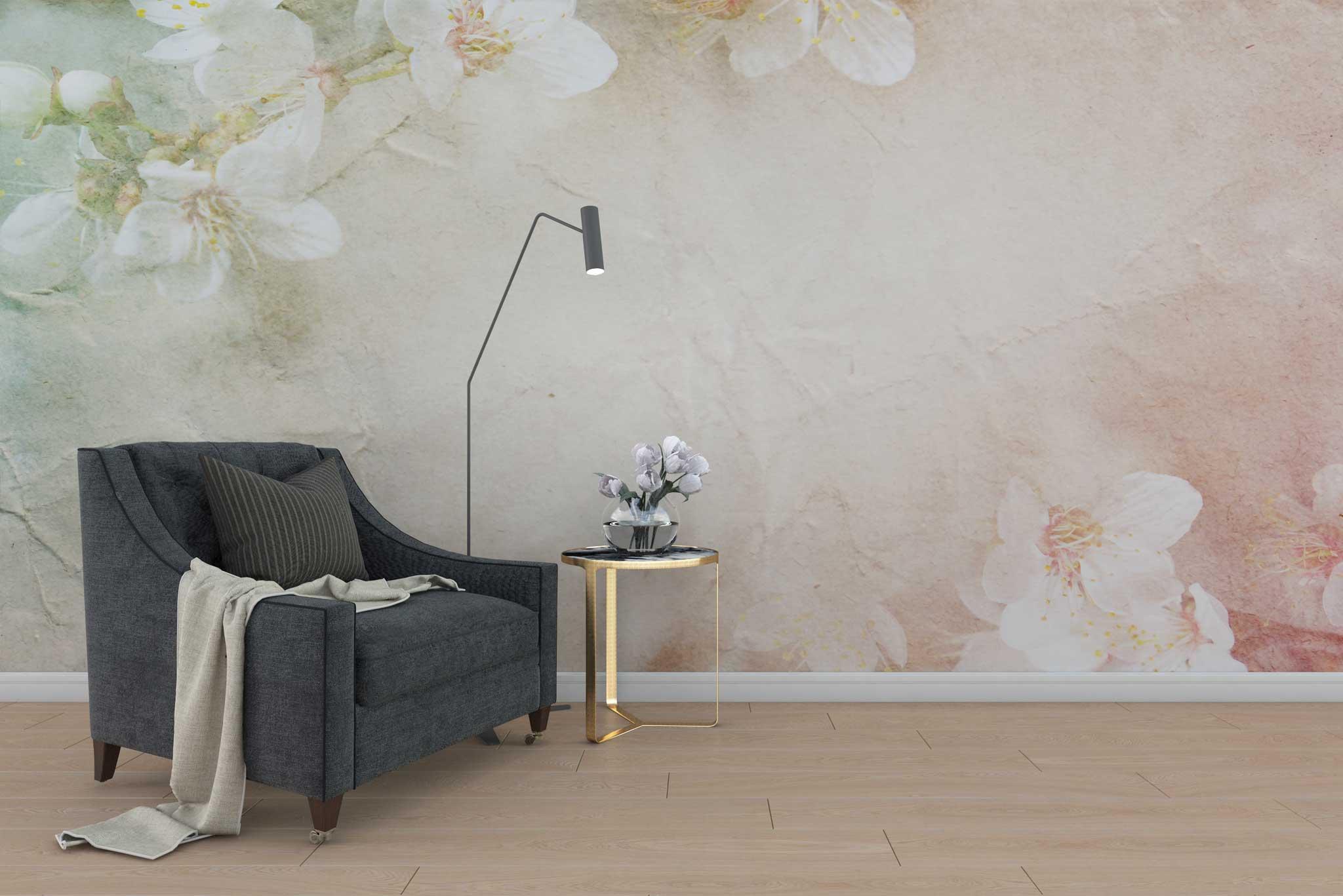 tapet-fototapet-special-personalizat-customizabil-comanda-bucuresti-daring-prints-model-floral-flori-cires-stil-vintage-romantic-pastel