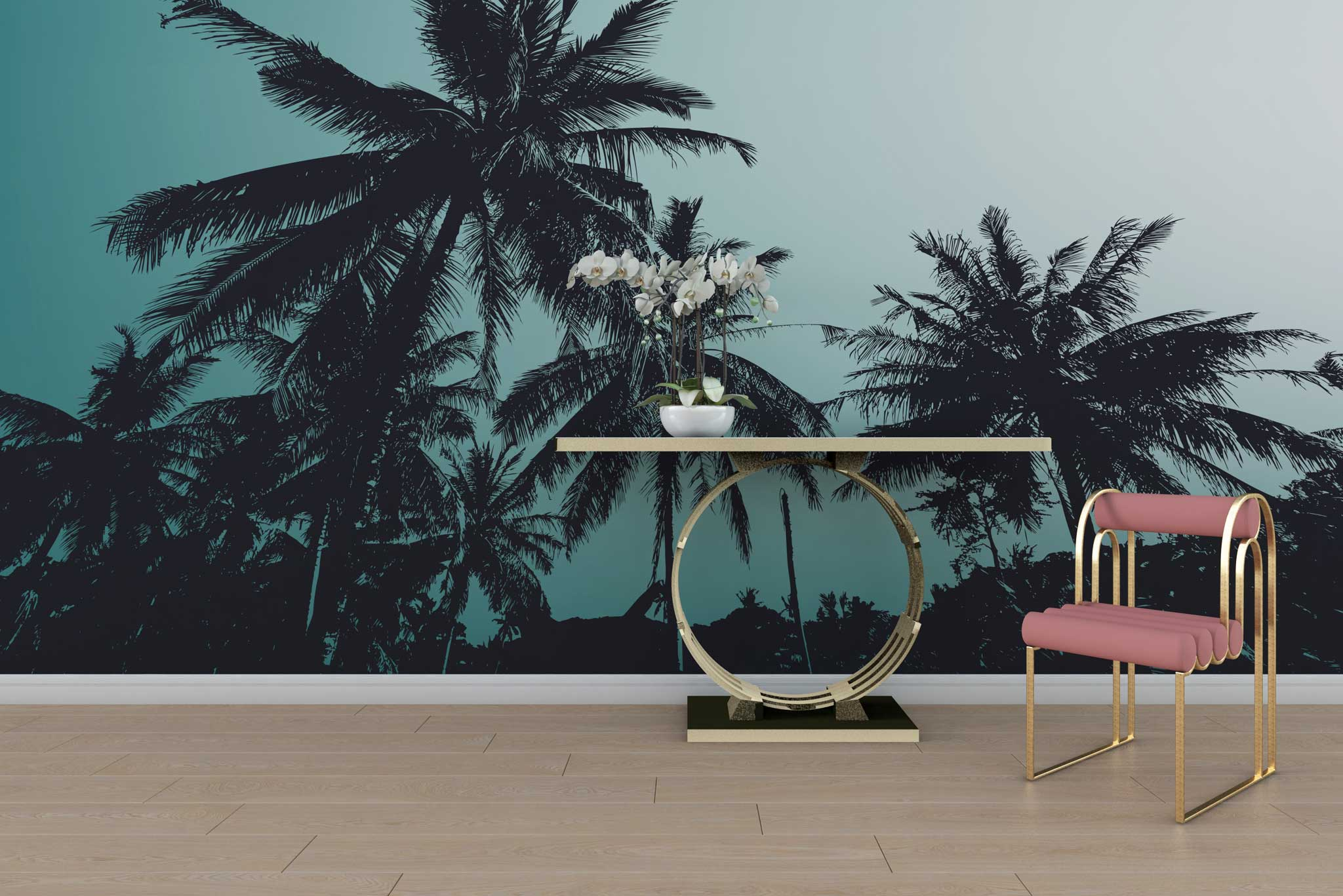 tapet-fototapet-special-personalizat-customizabil-comanda-bucuresti-daring-prints-model-fotografie-palmieri-fundal-cer-vara-exotic-tropical