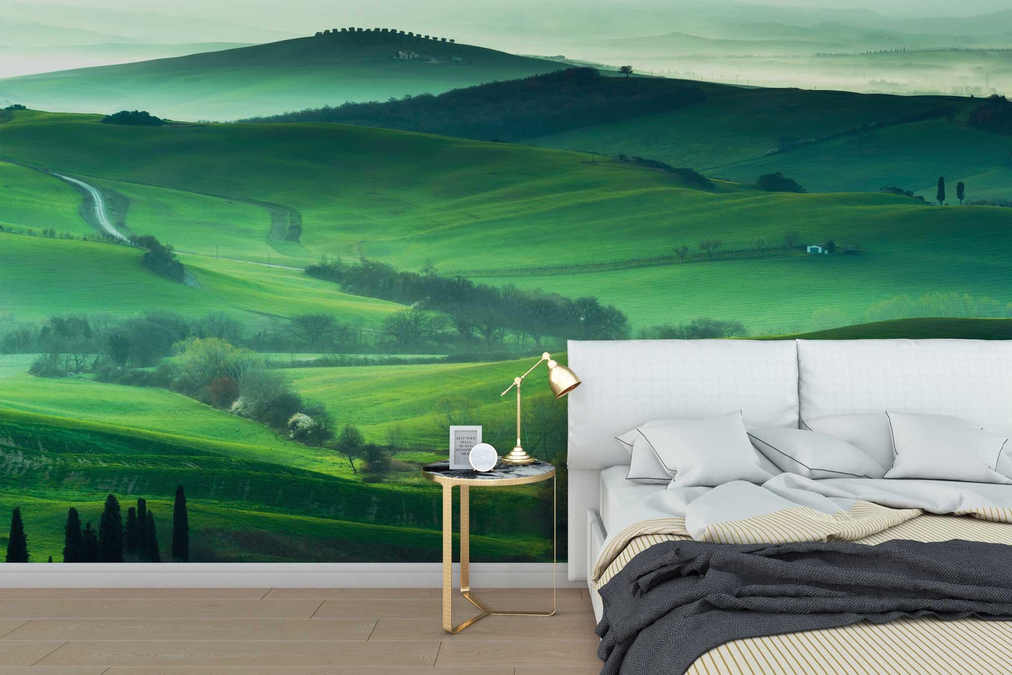 tapet-fototapet-special-personalizat-customizabil-comanda-bucuresti-daring-prints-model-fotografie-peisaj-dealuri-verzi-campie-iarba-verde-senin-calm