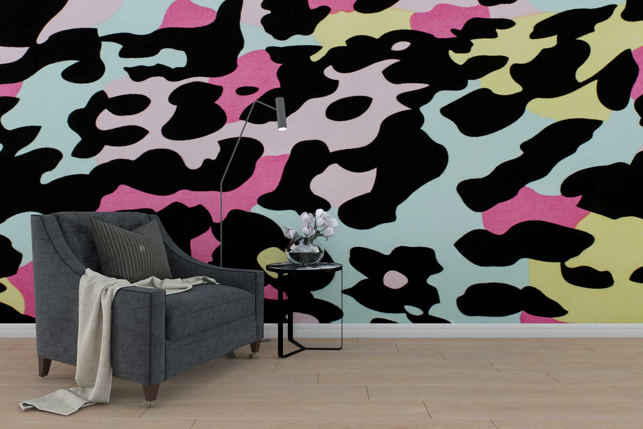 tapet-fototapet-special-personalizat-customizabil-comanda-bucuresti-daring-prints-model-motiv-animal-print-colorat-leopard-negru-galben-roz-bleu