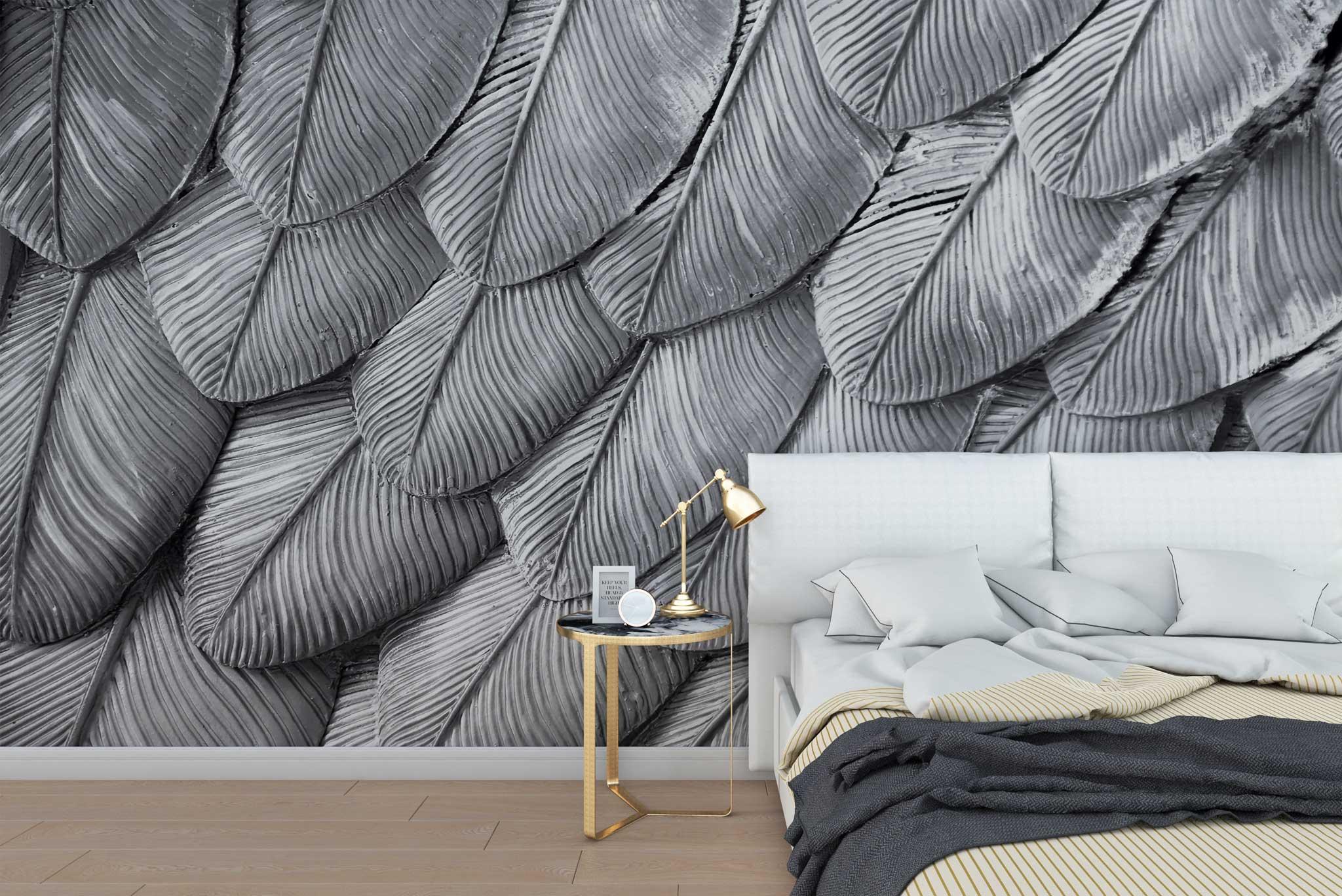 tapet-fototapet-special-personalizat-customizabil-comanda-bucuresti-daring-prints-model-pene-argintii-alb-negru