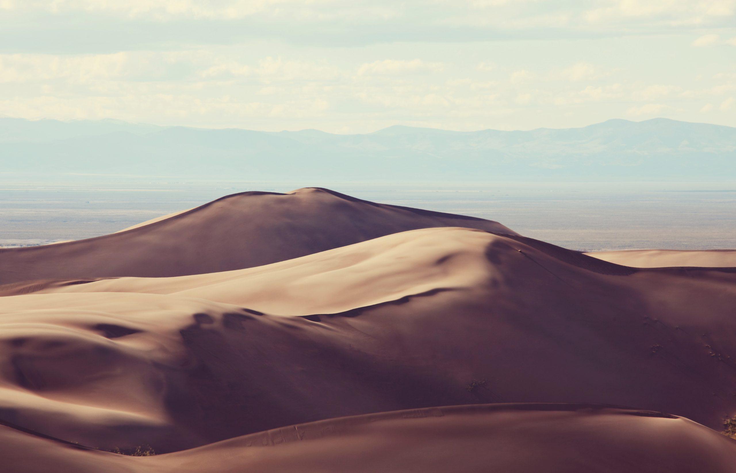 Sand dunes in the Sahara desert