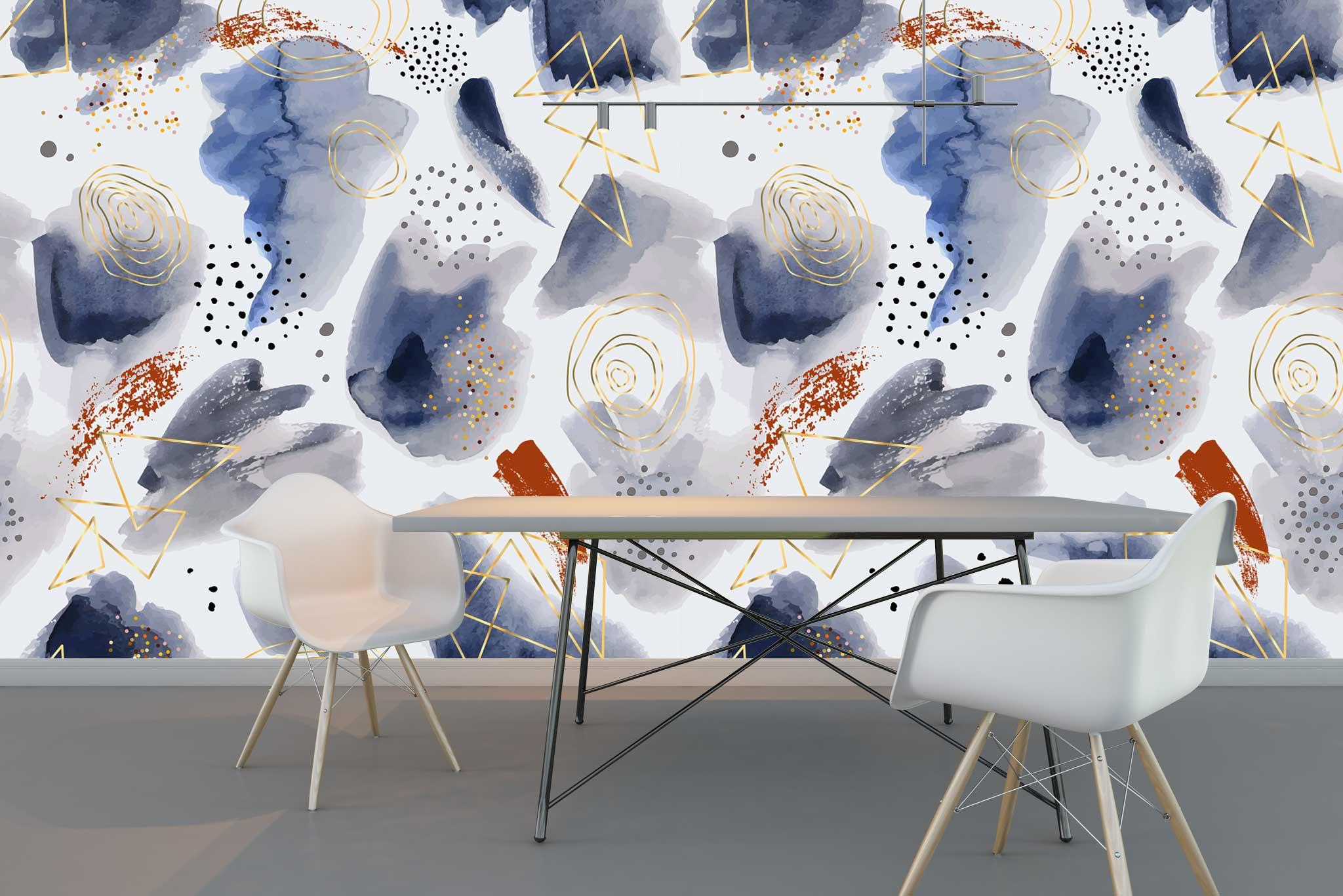 tapet-fototapet-comanda-personalizat-bucuresti-perete-special-lux-model-pictura-desen-abstract-grafic-acuarela-albastru-auriu