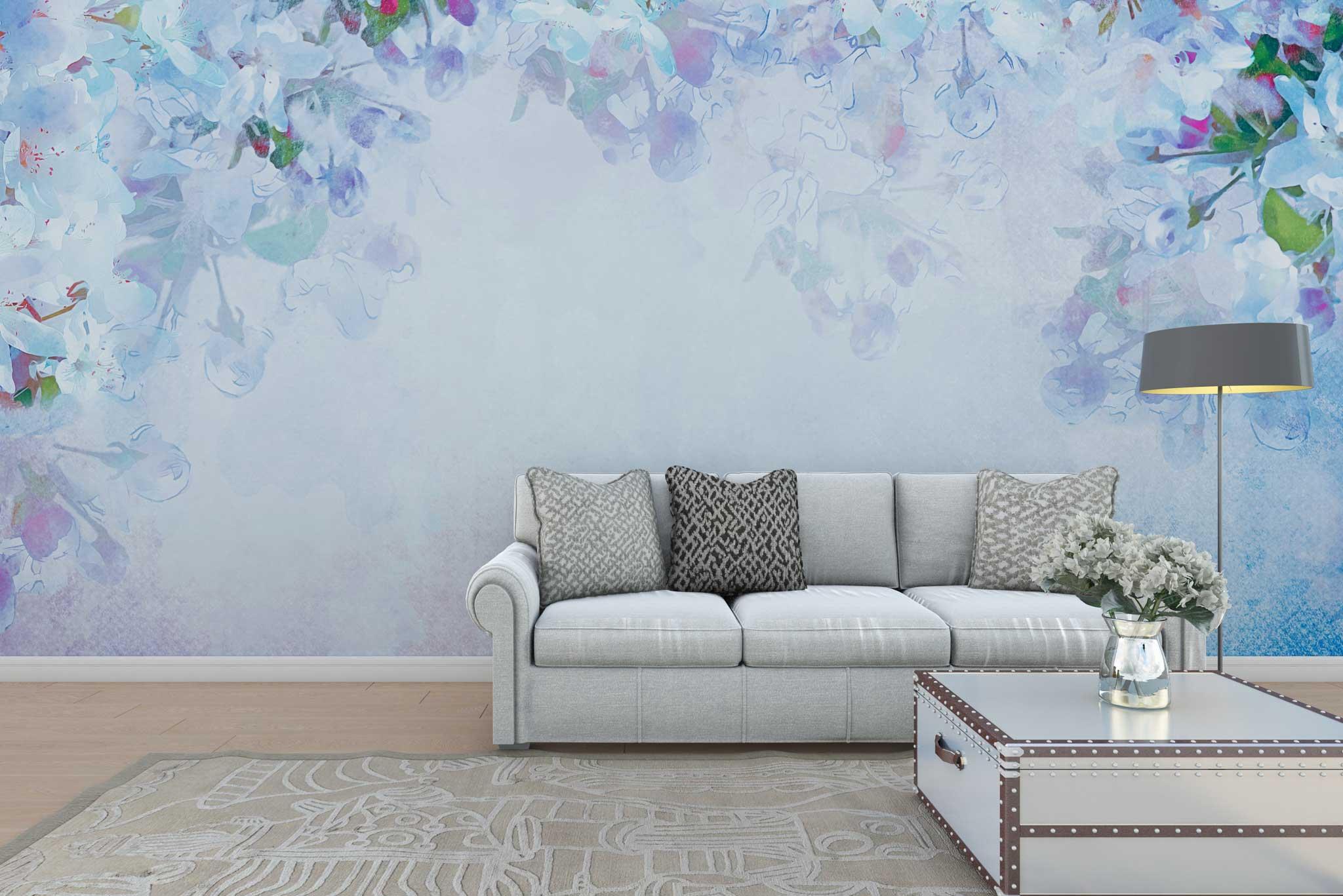 tapet-fototapet-personalizat-comanda-bucuresti-model-flori-liliac-bleu-perete-lux-special
