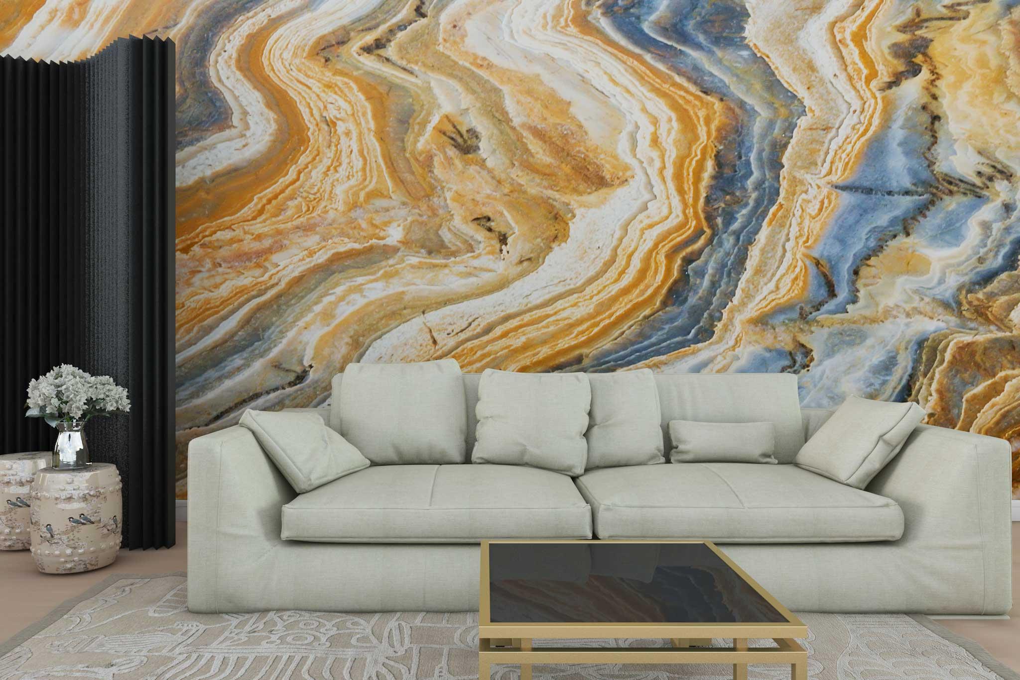 tapet-fototapet-personalizat-comanda-bucuresti-model-mineral-piatra-naturala-galben-albastru-perete-lux-special