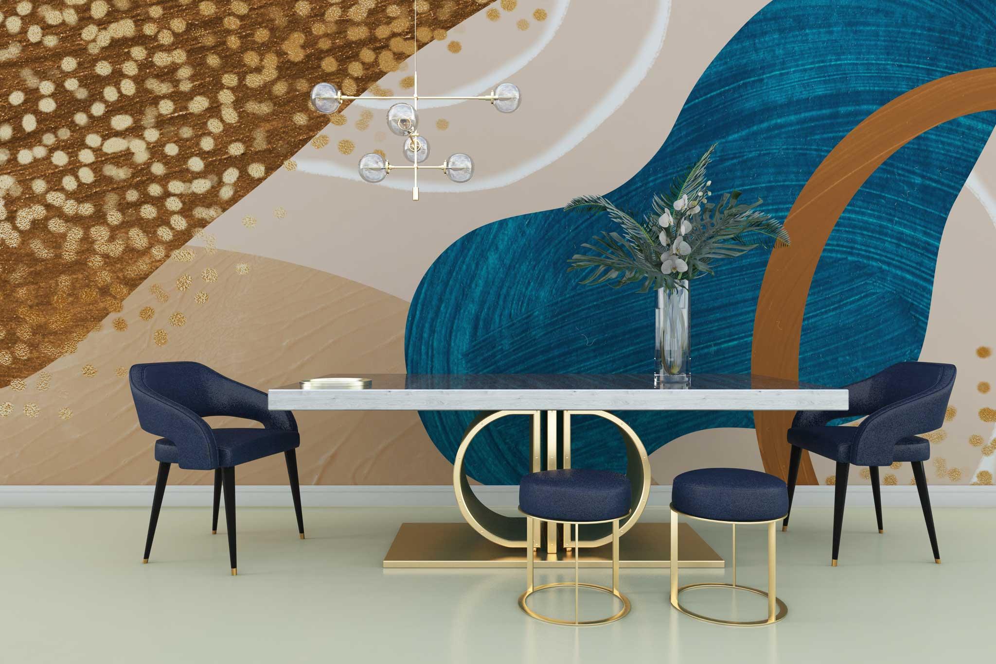 tapet-fototapet-personalizat-comanda-bucuresti-pictura-abstracta-auriu-perete-lux-special