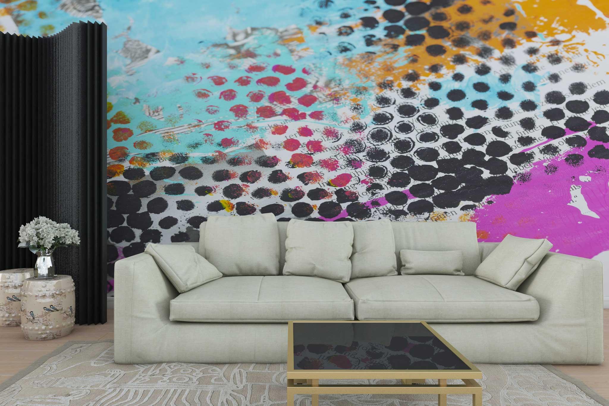 tapet-fototapet-personalizat-comanda-bucuresti-pictura-abstracta-grafic-buline-negre-perete-lux-special