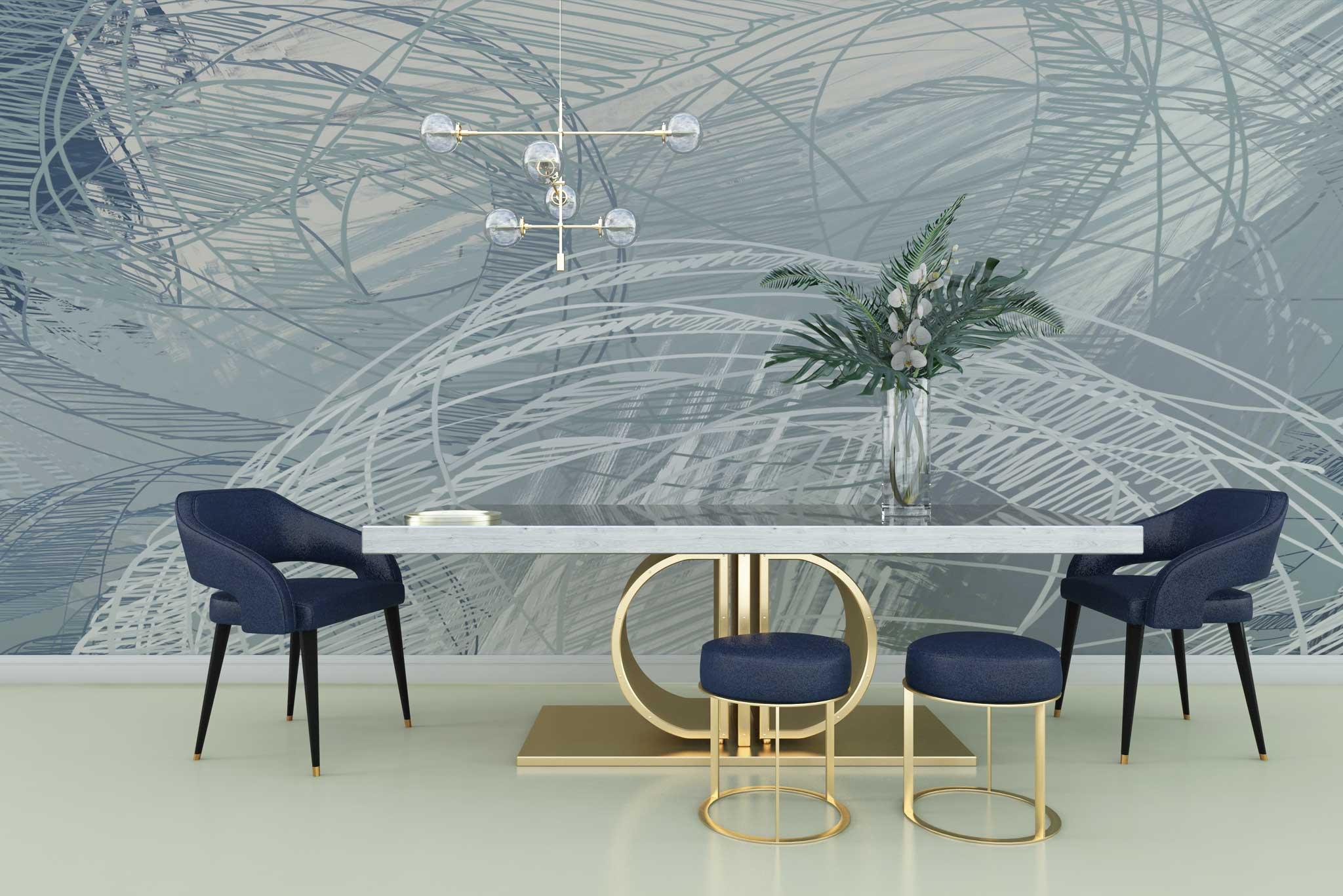 tapet-fototapet-personalizat-comanda-bucuresti-pictura-abstracta-grafic-model-cercuri-gri-argintiu-perete-lux-special